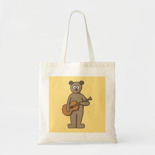 Guitarist. Canvas Bags