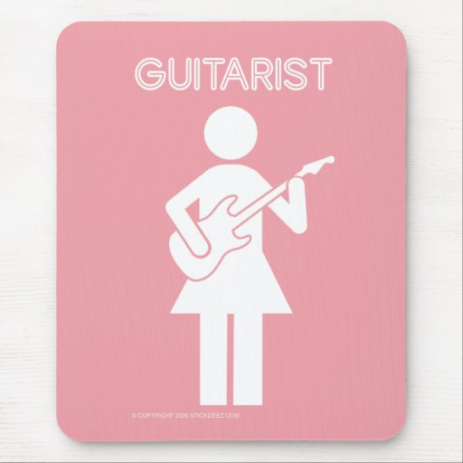 Guitarist-chick-color Mouse Pad