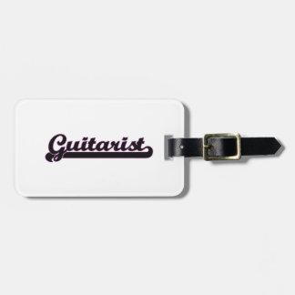Guitarist Classic Job Design Luggage Tag