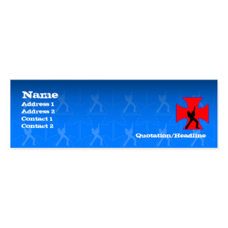 Guitarist Cross - Skinny Double-Sided Mini Business Cards (Pack Of 20)