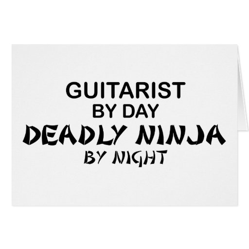Guitarist Deadly Ninja by Night Card