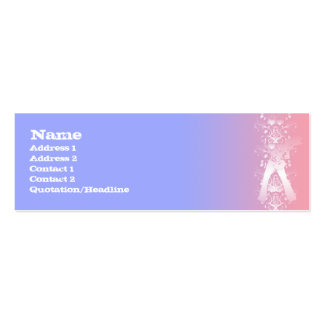 Guitarist Decor - Skinny Double-Sided Mini Business Cards (Pack Of 20)