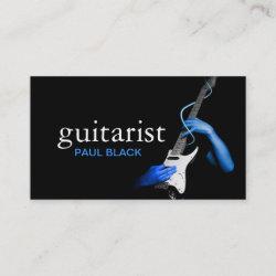 Guitarist Guitar Instructor Music Instruments Business Card