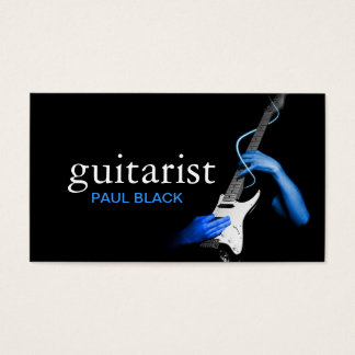 Guitarist Guitar Instructor Music Instruments Business Card