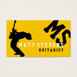 Guitarist Guitar Lessons Music Instructor Business Card