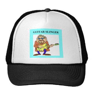 GUITARist guitar player Mesh Hat