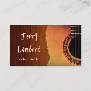 guitar player business cards zazzle