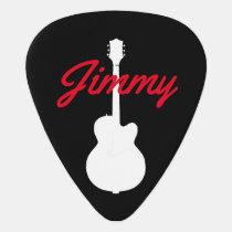 guitarist handwritten font-style name black guitar pick