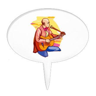 guitarist kneeling bald singing.png cake topper