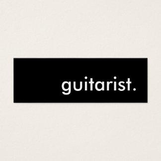 guitarist. mini business card