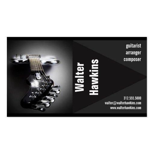 guitarist musician business card