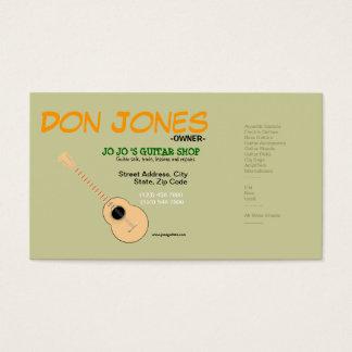 Guitarist Musician Guitar Shop Music Business Card