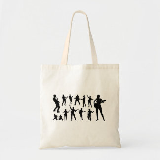 Guitarist Musicians Silhouettes Set Tote Bag