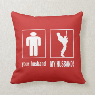 GUITARIST - MY HUSBAND THROW PILLOW