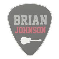 guitarist name / guitar player polycarbonate guitar pick