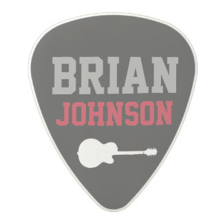 guitarist name / guitar player polycarbonate guitar pick