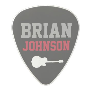 Guitarist Name / Guitar Player Polycarbonate Guitar Pick by mixedworld at Zazzle