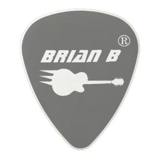 guitarist name personalized black polycarbonate guitar pick