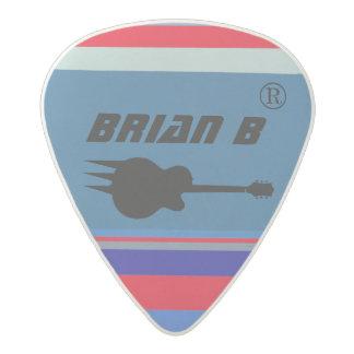 guitarist name personalized rock acetal guitar pick