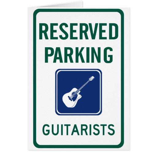 Guitarist Parking Card