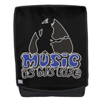 Guitarist Plectrum - Music Is My Life Backpack