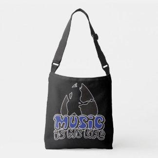 Guitarist Plectrum - Music Is My Life Crossbody Bag
