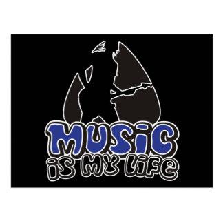 Guitarist Plectrum - Music Is My Life Postcard