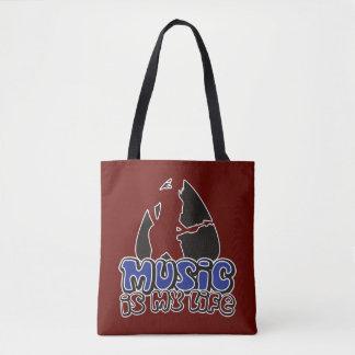 Guitarist Plectrum - Music Is My Life Tote Bag
