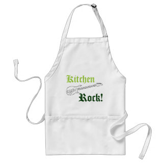 Guitarist Rock Funny Guitar Chef Rocks The Kitchen Adult Apron