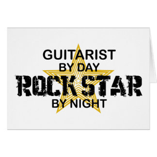 Guitarist Rock Star by Night Card