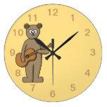 Guitarist. Round Wall Clock