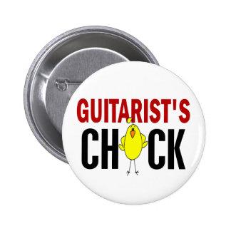 Guitarist's Chick 1 Pinback Button