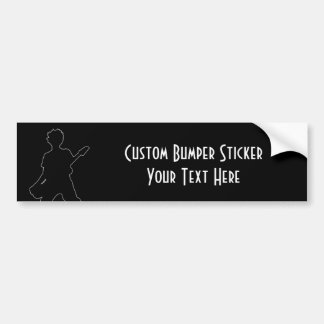 Guitarist Silhouette - B&W Bumper Sticker