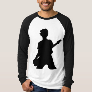 Guitarist Silhouette - B&W T-Shirt