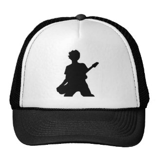 Guitarist Silhouette - B&W Trucker Hat