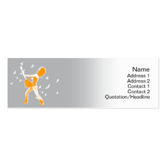 Guitarist  - Skinny Double-Sided Mini Business Cards (Pack Of 20)