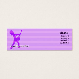 Guitarist  Stripes Purple - Skinny Mini Business Card