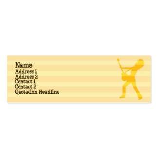 Guitarist  Stripes - Skinny Business Card