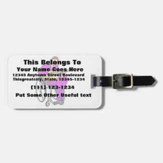 guitarist wheelchair graphic purple.png luggage tag