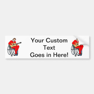 guitarist wheelchair graphic red.png car bumper sticker