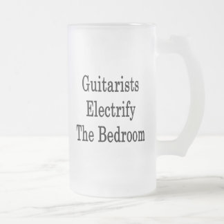 Guitarists Electrify The Bedroom 16 Oz Frosted Glass Beer Mug