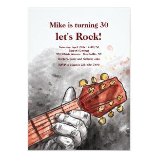 Guitarist's Hand Invitation