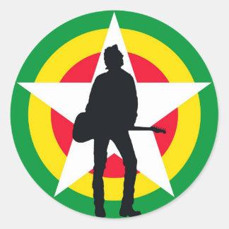 GuitarMan Classic Round Sticker
