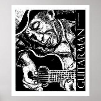 Guitarman - Mississippi John Hurt - Poster