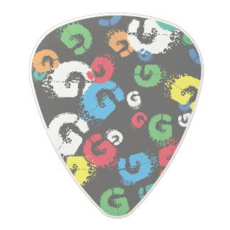 guitarpick - G personalized colorful letter Polycarbonate Guitar Pick