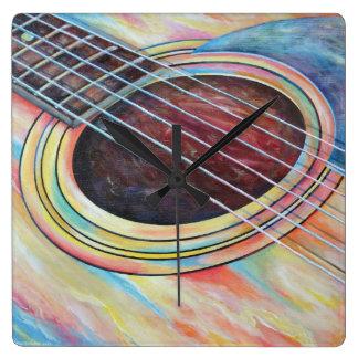 Guitarra 2 reloj cuadrado