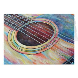 Guitarra 2 tarjeta de felicitación