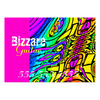 Guitarra abstracta colorida tarjetas de visita grandes