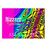 Guitarra abstracta colorida tarjetas de visita