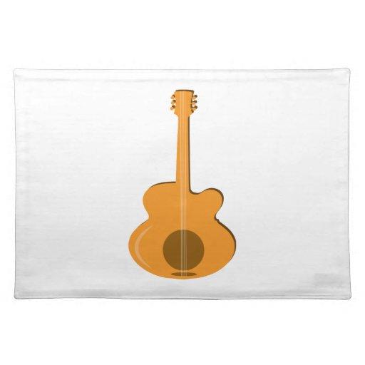 Guitarra abstracta mantel individual